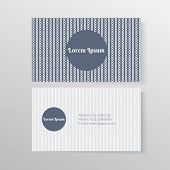 Business card template with ropes and knots