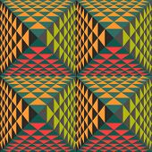 Abstract geometrical background with pyramids. Seamless pattern.  Vector Illustration.