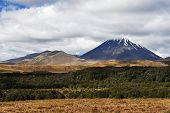Mount Ngauruhoe volcano known from famous movies, Tongariro Crossing National Park - New Zealand
