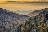 Dawn in the Smoky Mountains National Park, Tennessee, USA.