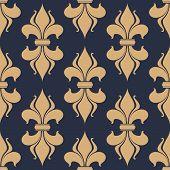 Classic French fleur-de-lis seamless pattern