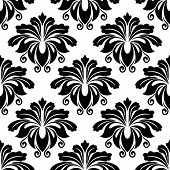 Bold dainty floral seamless pattern