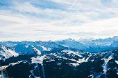 Panorama Of Skiarea In Portes Du Soleil Region