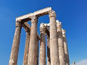 foto of olympian  - colonnade of Temple of Olympian Zeus Athens Greece - JPG