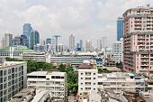 Modern Residential District In Bangkok City