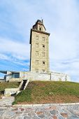 Ancient Roman Lighthouse Tower Of Hercules, Spain