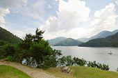 Recreation Area On Lake Idro, Italy