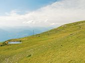 Green Slope Of Monte Baldo Mountains, Italy