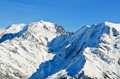View Of Montblanc Mountain In Alps