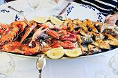 Plate With Cooked Seafood