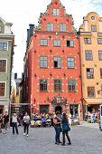 Oldest Medieval Stortorget Square In Stockholm