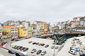 Urban Port And Car Parking In Town Malpica