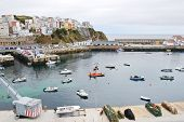Urban Port On Bay Of Biscay In Town Malpica