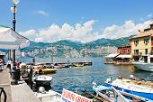 Waterfront In Town Malcesine, Lake Garda, Italy