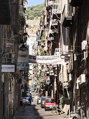 Street In Old City Of Naples, Italy