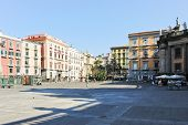 Square Piazza Dante Alighieri In Naples, Italy