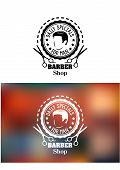 Barber shop emblem or sign