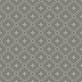 White And Dark Gray Fleur-de-lis Pattern Textured Fabric Background