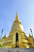 Phra Sri Ratana Chedi Coverd With Foil Gold In The Inner Grand Palace