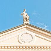 Matilde di Canossa statue in San Benedetto Po, Italy