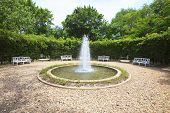 Water Fountain In English Garden Use For Multipurpose Background,backdrop