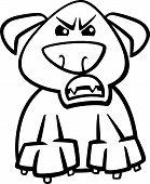 Furious Dog Cartoon Coloring Page