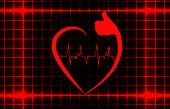 Healthy heart sign with ecg on a cover template