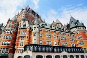 foto of chateau  - The Chateau Frontenc a landmark in Old Quebec city - JPG