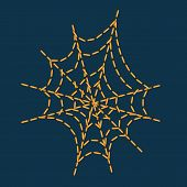 stock photo of cobweb  - Stitching as cobweb shape for halloween holiday decoration - JPG