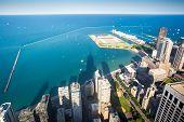 Chicago Skyline towards Navy Pier