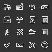 Delivery web icons, grey set
