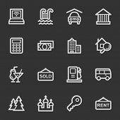 Travel web icon set 4, grey set