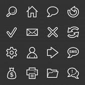 Web & internet icons set 1, grey set