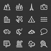 Travel web icon set 2, grey set