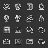 Travel web icon set 5, grey set