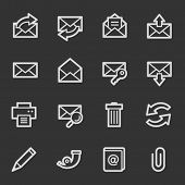 Email web icons, grey set