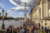 London Big Wheel And Thames River