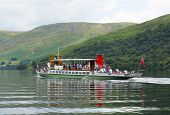 Ullswater steam ferry Lake District England uk