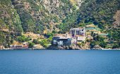 Dionisiou Monastery on Mount Athos, Halkidiki, Greece.