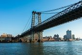 Manhattan bridge on summer day