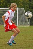 soccer player facing ball