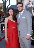 LOS ANGELES - APR 13:  Seth Rogen & Lauren Miller arrives to the