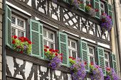 Half timbered house in upper Franconia, Germany