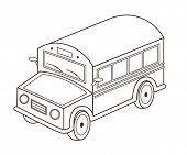 toy school bus (vector illustration)