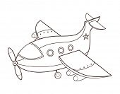 cute toy airplane (vector illustration)