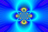 Fantastic Faktal  Ornament Shining Blue Colors. A-0361-