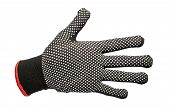 black work gloves isolated