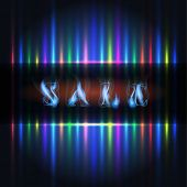 sale and abstract color light lines background