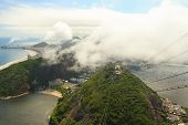 Aerial View Copacabana, Botafogo, Red Beach From Sugarloaf, Rio De Janeiro