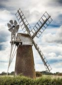 Windmill In Norfolk Uk